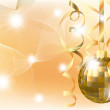 Golden xmas ball - Image vectorielle