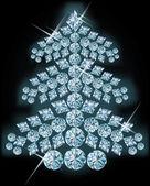Diamond christmas tree. vector illustration — Stock Vector