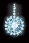 Diamond christmas ball — Vector de stock