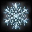 Diamond snowflake, vector illustration — Stock Vector