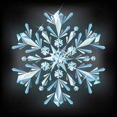 Diamant sneeuwvlok, vectorillustratie — Stockvector