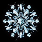 Precious snowflake, vector illustration — Stock Vector