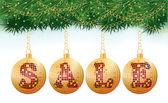 圣诞销售球,矢量图 — 图库矢量图片