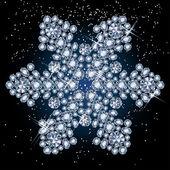 Diamond snowflake — Stock Vector