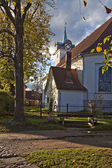 Historical buildings, Kuldiga, Latvia. — Stock Photo