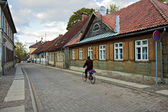 Historical street in Kuldiga, Latvia. — Stock Photo