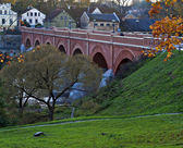Historical bridge in Kuldiga, Latvia. — Stock Photo
