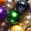 Colourful Christmas baubles. — Stock Photo