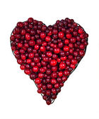 Cranberries in the shape of the heart. — Stock Photo