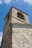 St. Lorenzo Belltower. Torrechiara. Emilia-Romagna. Italy. — Stock Photo