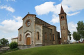 St. Savino church. Gazzola. Emilia-Romagna. Italy. — Stock Photo