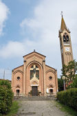 St. Maria Assunta church. Gropparello. Emilia-Romagna. Italy. — Stock Photo