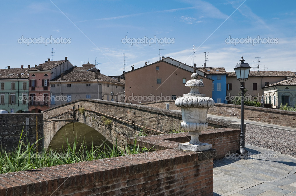 Panoramic view of Colorno. Emilia-Romagna. Italy. — Stock Photo #7443130