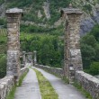 Hunchback Bridge. Bobbio. Emilia-Romagna. Italy. — Stock Photo #7475631