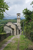 St. Francesco church. Bardi. Emilia-Romagna. Italy. — Foto Stock