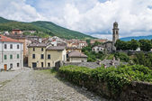 Panoramic view of Bardi. Emilia-Romagna. Italy. — 图库照片