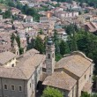 Panoramic view of Castell'arquato. Emilia-Romagna. Italy. - Photo