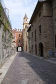 Alleyway. Castell'arquato. Emilia-Romagna. Italy. — Stockfoto
