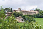 Slottet av statto. travo.emilia-romagna. italien. — Stockfoto