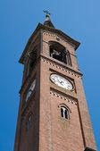 Belltower church. Roccabianca. Emilia-Romagna. Italy. — Stock Photo