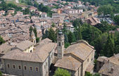 Panoramic view of Castell'arquato. Emilia-Romagna. Italy. — Foto de Stock