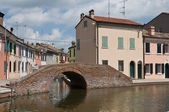 Sisti Bridge. Comacchio. Emilia-Romagna. Italy. — Stock Photo