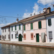 View of Comacchio. Emilia-Romagna. Italy. - Stock Photo