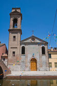 Carmine Church. Comacchio. Emilia-Romagna. Italy. — Stock Photo