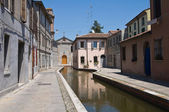 View of Comacchio. Emilia-Romagna. Italy. — Stock Photo