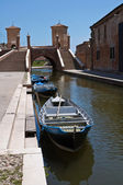 Trepponti bridge. Comacchio. Emilia-Romagna. Italy. — Stock Photo