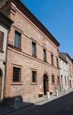 ルドヴィコの家アリオスト。フェラーラ。エミリア = ロマーニャ州。イタリア. — ストック写真