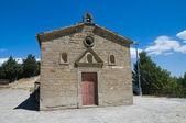 St. Cataldo Church. Pietrapertosa. Basilicata. Italy. — Stockfoto