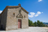 St. Cataldo Church. Pietrapertosa. Basilicata. Italy. — Stock Photo