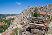 Panoramisch zicht op pietrapertosa. basilicata. italië. — Stockfoto