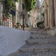 Alleyway. Peschici. Puglia. Italy. - Stock Photo