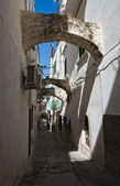 Alleyway. Vieste. Puglia. Italy. — Stock Photo