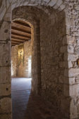 Interior Castle of Monte Sant'Angelo. Puglia. Italy. — Stock Photo
