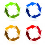 A Colourful Circular Arrow Illustration — Stock Photo #7106917