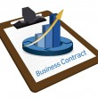 Business Contract documentation illustration — Stockfoto