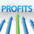 Stock Photo: Business arrows target profits illustration design