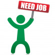 Need a job banner and icon illustration — Stock Photo