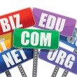 Domain names signs internet concept — 图库照片