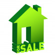 House for sale icon isolated on white — Stock Photo