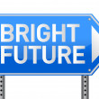 Stock Photo: Photo realistic metallic reflective 'bright future' sign