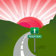 Royalty-Free Stock Photo: Road to perdition concept illustration design