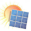 Solar panel icon — Stock Photo #7107938