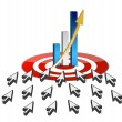 Stock Photo: targeting business online success concept