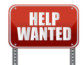 Red help wanted sign illustration design — Stock Photo