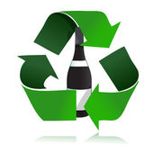 Recycle glass bottle icon illustration design — Stock Photo