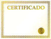Spanish blank certificate. Ready to be filled with your individual text. — Stock Photo